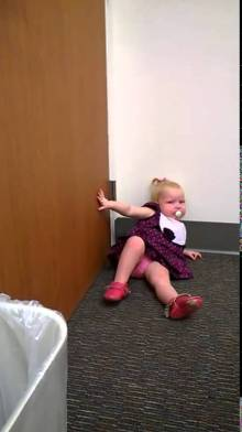 Adorable 2-year-old Piper has a meltdown temper tantrum after finding out that she has a newborn baby sister coming home from the hospital. Now that's a priceless reaction!