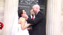 Funny Wedding Moment - Kid Grossed out by first kiss