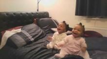 Cute Twin babies dancing